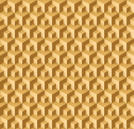light brown background: Abstract geometric background with cubes in light brown shades for design