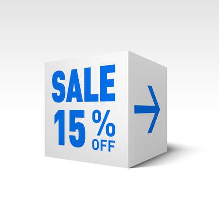 fifteen: Cube Banner Template. Fifteen Percent off Discount