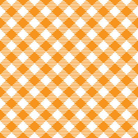 Seamless Yellow White Traditional Gingham Pattern Fabric Texture for Design Illustration