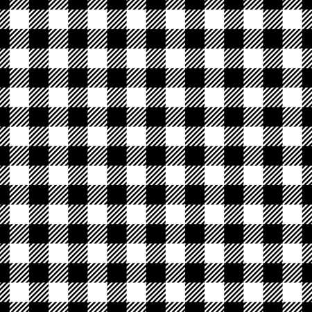 fabric pattern: Seamless Black White Traditional Gingham Pattern Fabric Texture