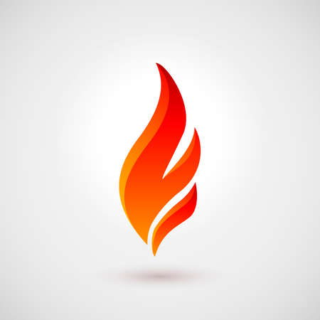 flammable warning: Abstract Symbol of Fire Flames. Icon Illustration Over Gray Background for Design Illustration