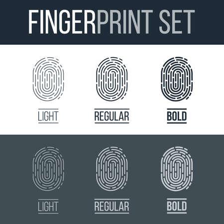 fingermark: Set of Fingerprints for Identity Person on Dark and White