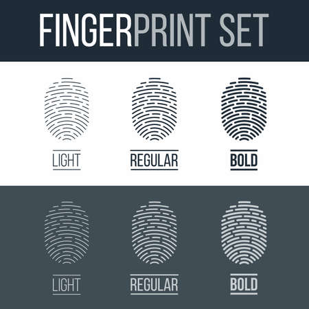 fingermark: Biometric Fingerprints Set Print for Identity Person