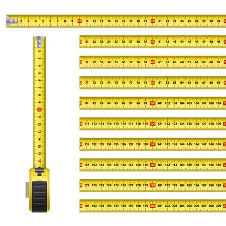 Measuring Graphic Design Roulette Centimeter Scale on the White
