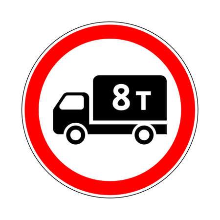 Illustration of Road Prohibitory Sign No Heavy Goods Vehicles