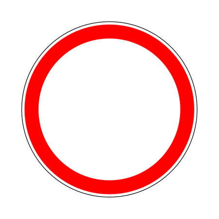 roadsign: Illustration of Road Prohibitory Sign Closed to All Vehicles in Both Directions