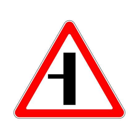 Illustration of Triangle Warning Sign Left Turn Illustration