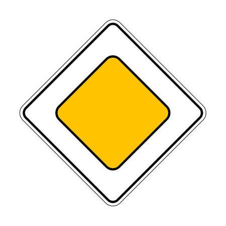 Illustration of Traffic Yellow Roadsign Priority Main Road 向量圖像