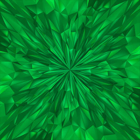 Abstract Green Composition. Magic Explosion Star with Particles. Illustration for Design