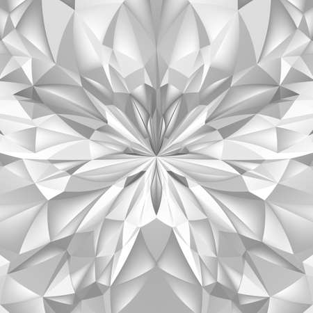 Abstract White Composition. Magic Explosion Star with Particles Illustration