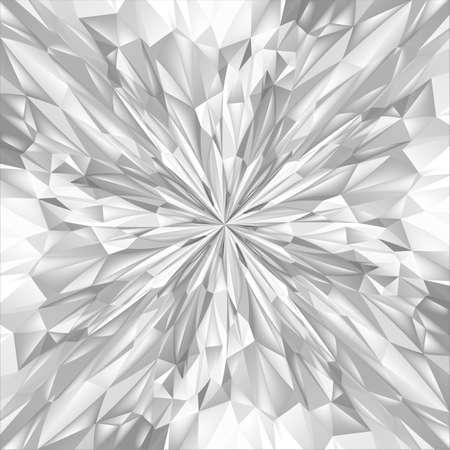 Abstract White Composition. Magic Explosion Star with Particles. Illustration for Design