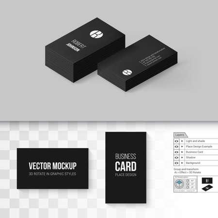 Black business cards template branding mock up with 3d rotate black business cards template branding mock up with 3d rotate options on gray and transparent flashek Images