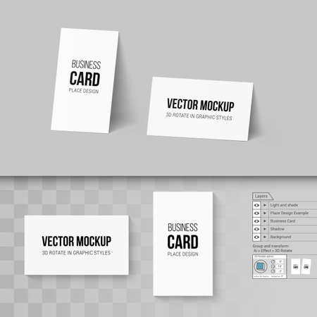 Wite business cards template branding mock up with 3d rotate white business cards template corporate identity branding mock up with 3d rotate options vector fbccfo Choice Image