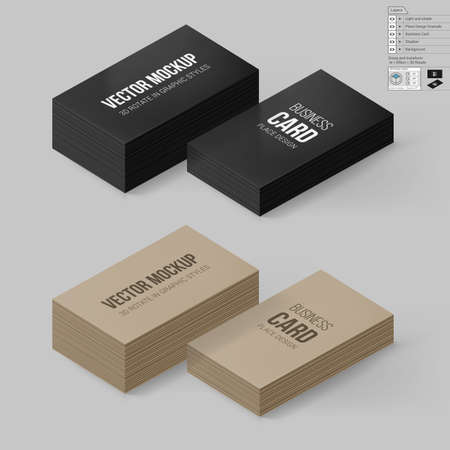 Business cards template in black and brown colors corporate business cards template in black and brown colors corporate identity branding mock up with friedricerecipe Image collections