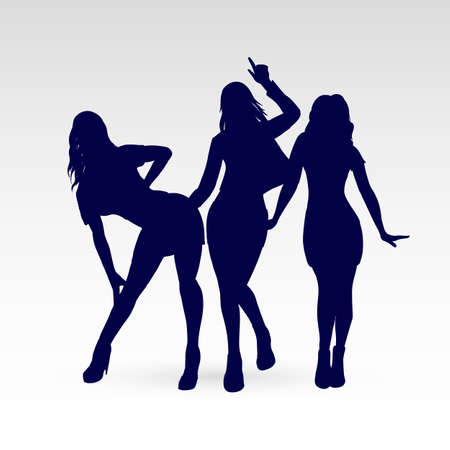 Silhouettes of Go-Go Dance Girls