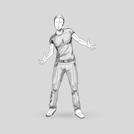Modern Style Dancer Sketch of a Man Dancer Hip Hop Choreography