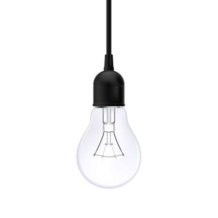 Lamp Bulb Isolated over White Background. Light Icon for Creative Design 일러스트