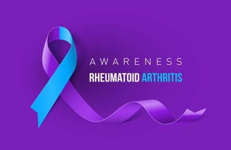 Banner with Rheumatoid Arthritis Awareness Realistic Ribbon. Design Template for Info-graphics or Websites Magazines