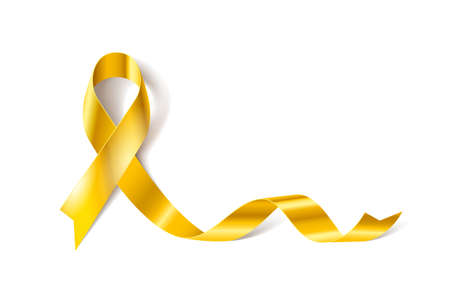 Childhood Cancer Awareness Realistic Ribbon icon Иллюстрация