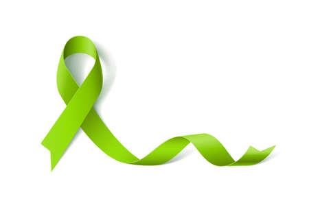 Lymphoma Awareness Realistic Ribbon icon