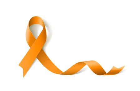 Leukemia Awareness Realistic Yellow Ribbon icon