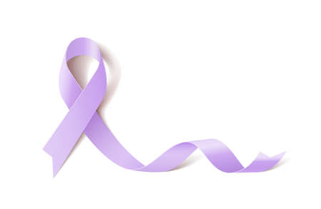 Epilepsy Awareness Realistic Ribbon icon Ilustracja