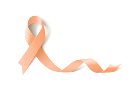Uterine Cancer Awareness Realistic Ribbon icon