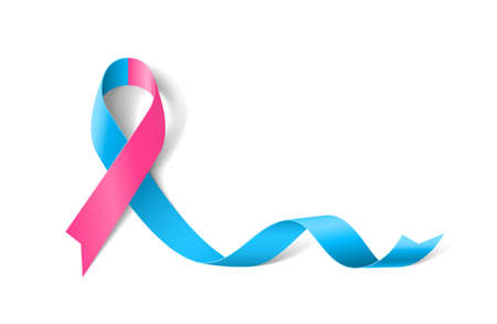 Pro life Awareness Realistic Ribbon icon Illustration