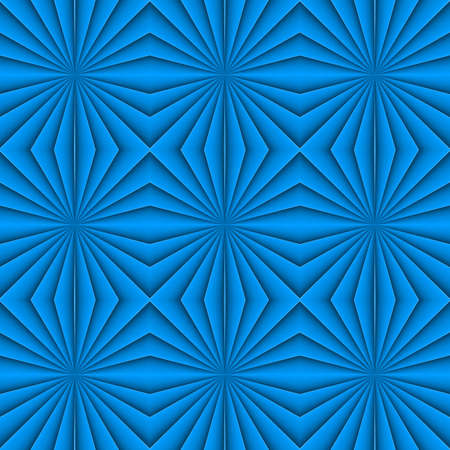 Creative Geometric seamless Blue Pattern. Floral Ornament. For Fabric, Decor, Design, Wallpaper