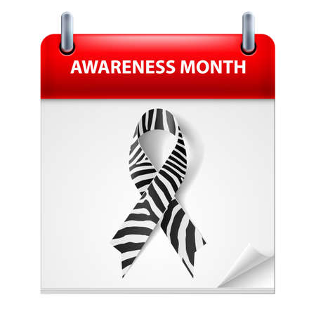 Banner with Rare Disease Awareness Realistic RibbonIllustration on Calendar Page. Design Template for Websites Magazines