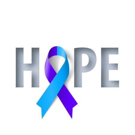 Banner with Hope Lettering and Symbol of Rheumatoid Arthritis Awareness Realistic Ribbon. Design Template for Info-graphics or Websites Magazines