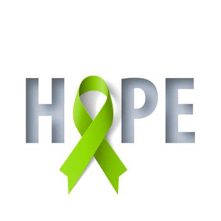 Transparent z napisem nadziei i symbolem realistyczne wstążki świadomości chłoniaka. Szablon projektu dla infografik lub stron internetowych Czasopisma Ilustracje wektorowe
