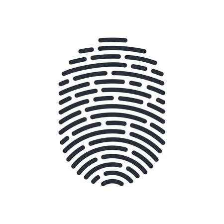 Abstract Bio-metric Icon Detailed for Fingerprint ID Line For Apps with Security Unlock Vettoriali