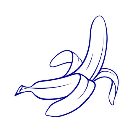 Peeled Banana Icon on White Background. Snack Concept Illustration can be Used for Topics like Food, Diet, Healthy Eating