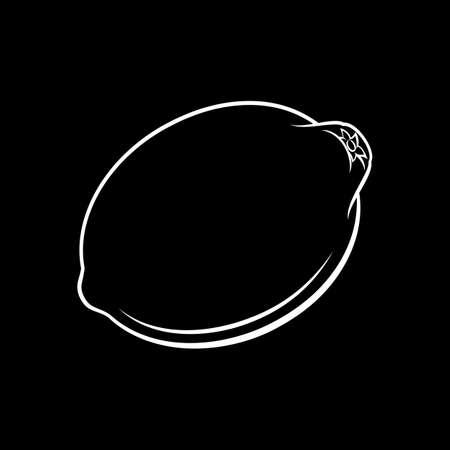 Illustration of Delicious Lemon Fruit. Icon for Food Apps on Blackboard
