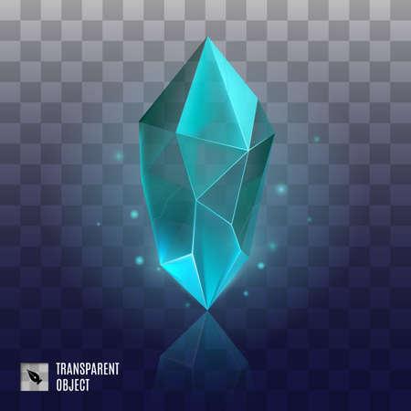 Gem or Crystal. Magic Diamond, Accessory for a Little Princess. Precious Gem Icon. Luxury Symbol on the Transparent Background