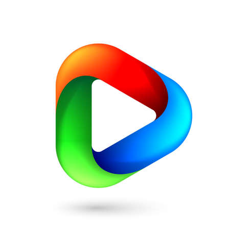 Media Play Icon for Technology Design with Colorful Style Concept.