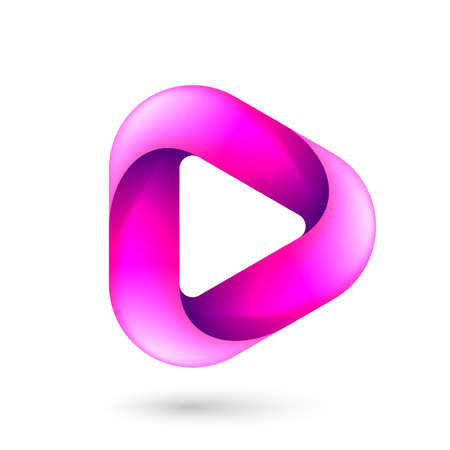 Media Play Icon for Technology Design with Pink Style Concept.