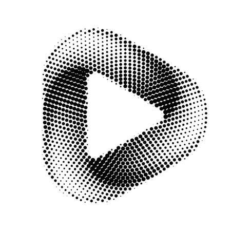 Media Play Icon for Technology Design. Template Digital symbol Company with Player Concept. Movie Icon for Media Business, Play icon with Rounded Corners Ilustração