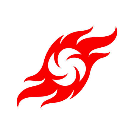 Abstract Fire Flames Icon Template. Fire flame Symbol Sign Isolated on White Background. Illustration for Graphic and Web Design