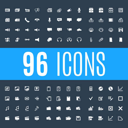 Set line icons in the flat design business, office, and accounting with elements for mobile concepts and web apps. Collection modern infographic icons and pictogram on dark background