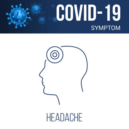 Coronavirus Symptoms Icon. Headache Linear Symbol Design from Diseases Collection. Simple Outline Element Illustration on White Background