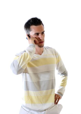 The young man with phone. photo