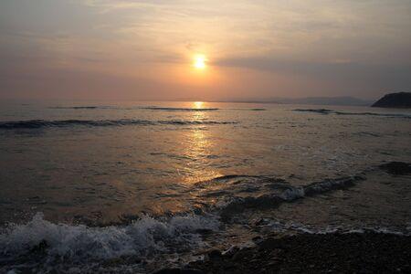 The nice decline on the sea photo