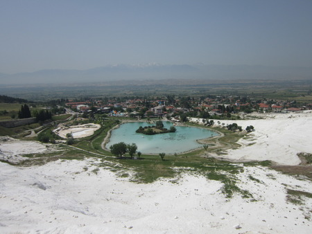 chemically: Who was not to Pamukkale that did not see Turkey guides about this unique place an exit of underground hot springs with deposits of chemically pure calcium so speak