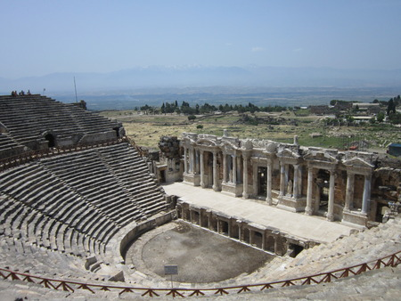 an era: Excavation and restoration of ancient theater of an era of the GreekRoman Empire in the territory of modern Turkey