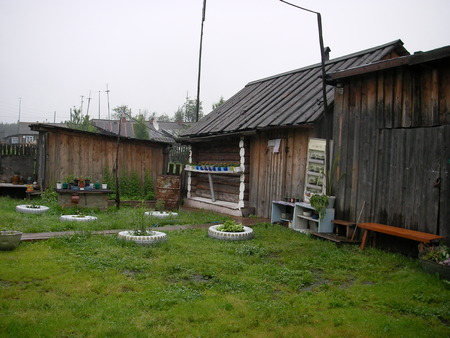 tidiness: The Ural villages with their roads, kitchen gardens, lodges and a way of life