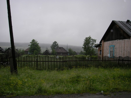 lodges: The Ural villages with their roads, kitchen gardens, lodges and a way of life