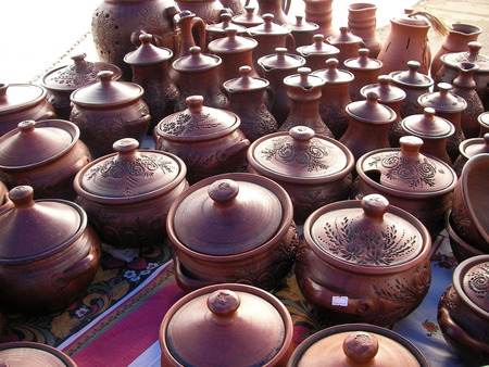 offered: The beautiful and environmentally friendly ware is made by the potter and offered for sale at fair