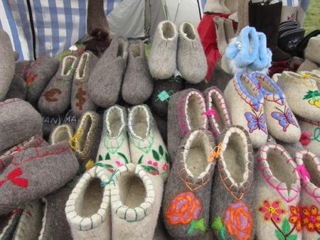 pima: Warm natural winter footwear